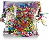 Gelukspoppetjes, 12 mm. 144 stuks - bonte kleuren