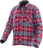 5157 Worker Shirt red/petrol xl