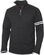 Highland sweater met rits antraciet melange xs