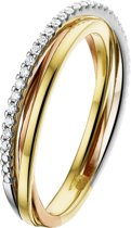 The Jewelry Collection Ring Diamant 0.12ct H Si - Geelgoud;ros�goud;witgoud