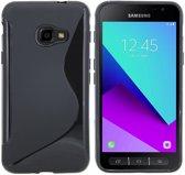 Zwart S-Style TPU Siliconen Case Hoesje voor Samsung Galaxy Xcover 4