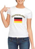 Wit dames t-shirt met vlag van Duitsland L