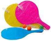 Kunststof beachball set  Fuchsia