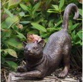 Bronzen Beeld: Gestrekte kat