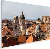 Uitzicht vanaf de stadsmuren Dubrovnik Plexiglas 60x40 cm - Foto print op Glas (Plexiglas wanddecoratie)