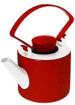 Qdo Cylinder Theepot - 1 l - Porselein - Rood