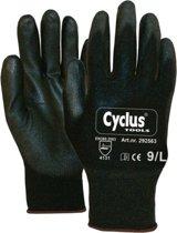 Cyclus Tools Montagehandschoenen Nylon/pu Unisex Zwart Maat 10