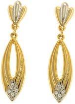 Behave® Oorbellen hangers bi color goud- en zilverkleur 5cm