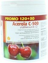 Acerola vitamine C 500 zuig - 150 tabletten - Voedingssupplement