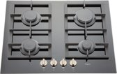 Pelgrim GK464ONYA inbouw gas kookplaat - 65 cm breed