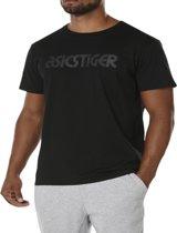 Asics Logo Tee A16068-0090, Mannen, Zwart, T-shirt maat: L EU
