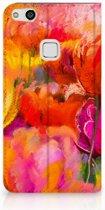Huawei P10 Lite Standcase Hoesje Design Tulips
