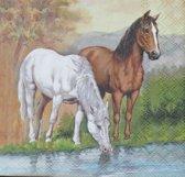 Servetten Horses 25 x 25 cm