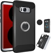 Teleplus Samsung Galaxy S8 Ring Double Layer Cover Black