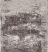 Hoogpolig zacht tapijt taupe 30 mm - 160 x 230 cm