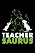 Teacher Saurus: A Journal, Notepad, or Diary to write down your thoughts. - 120 Page - 6x9 - College Ruled Journal - Writing Book, Per