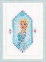 Borduurpakket  Frozen heart  Anna met telpatroon