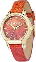 Just Cavalli Just Fushion - R7251533501 - dames horloge - leer - goudkleurig - 34mm