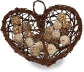 relaxdays houten decoratie hart - houten hart - woondecoratie om op te hangen - muur deco
