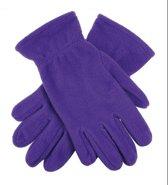 Paarse fleece handschoenen M/l
