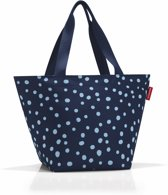 Reisenthel Shopper M Handtas - Shopper - Maat M - Polyester - 15L - Spots Navy Blauw