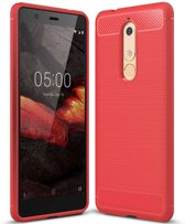 Just in Case Nokia 5.1 Back Cover Soft TPU Rood
