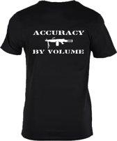 Accuracy by volume T-shirt zwart