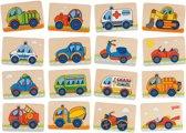 Goki Geheugenspel voertuigen 32 delig