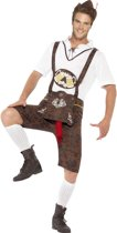 Grappig Oktoberfest Beiers Lederhosen kostuum voor mannen  | maat L