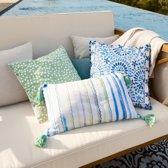 LOBERON Kussen set van 3 Halea blauw/wit