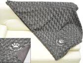 Nobby deken modern fleece donkergrijs 100 x 150 cm - 1 st