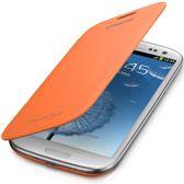 Flip Cover voor de Samsung Galaxy S3 (Galaxy i9300) (orange) (EFC-1G6FOEC)