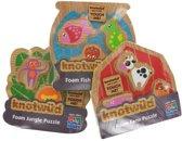 Knotwud dieren foam puzzels drie stuks