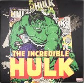 Marvel Comics - Canvas Schilderij - Incredible Hulk - 70x70cm
