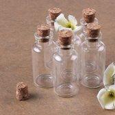 Kleine Glazen Mini Flesjes Met Kurk - 20 Stuks 10 Ml - Lege Glas Flesjes