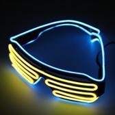 El Wire Shutter bril Blauw/Geel- El Wire Shutter glasses Blue/Yellow