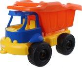 kiepwagen oranje/geel/blauw 40 cm