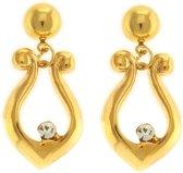Behave® Dames oorbellen hangers goud-kleur 3,5 cm