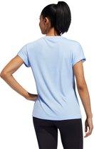 adidas SS BOS LOGO TEE Dames Sportshirt - Glow Blue - Maat M