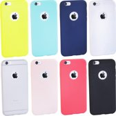 TIGR - Multipack van 8 hoesjes voor iPhone 6 / 6s - TPU cover case - Transparant - Wit - Zwart - Blauw - Lichtblauw - Rood - Geel - Roze