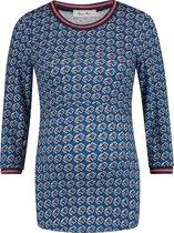 Queen Mum Shirt - Blue AOP - Maat L
