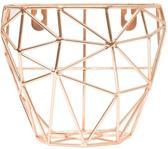 TAK Design Thanwa Mand M - Wandbevestiging - Metaaldraad - 16 x 10 x 16 cm - Koperkleurig
