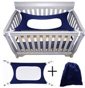 Balonsie - Baby Hangmat - Hangmat Box - Baby Wiegjes - Katoen - Veilig - Comfort - Slapen - Bed - Outdoor - Tuin - Marineblauw - Babyshower