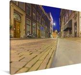 Straten in het centrum van Dordrecht Canvas 30x20 cm - klein - Foto print op Canvas schilderij (Wanddecoratie woonkamer / slaapkamer) / Europese steden Canvas Schilderijen