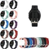 Siliconen Horloge Band Voor Garmin Vivoactive 3 - Zwart