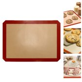 KitchenBrothers Siliconen Glasvezel Deegmat - Bakmat – 42 x 29.5 cm