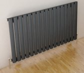 Eastbrook Tunstall horizontaal radiator mat antraciet 600 x 589 mm (afgebeeld is de 600 x 1002mm)