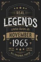 Real Legends were born in November 1965