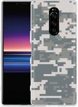 Sony Xperia 1 Hoesje Army Digi Camouflage