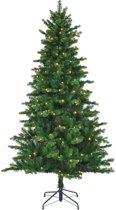 Black Box kunstkerstboom met verlichting - 215x127 cm groen - 1210 zijtakken 260 lampjes
